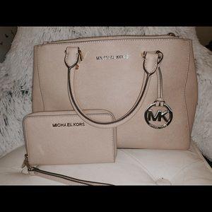 Michael Kors Kellen Satchel and matching wallet